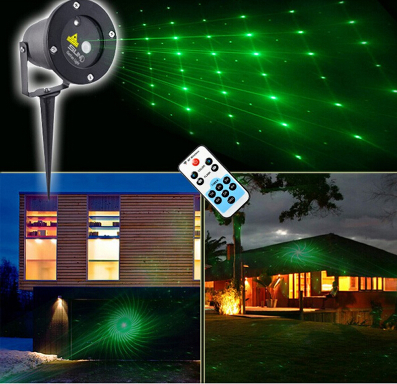 Vert 12in1 laser projecteur spectacle de lumi re led bule for Eclairage laser exterieur