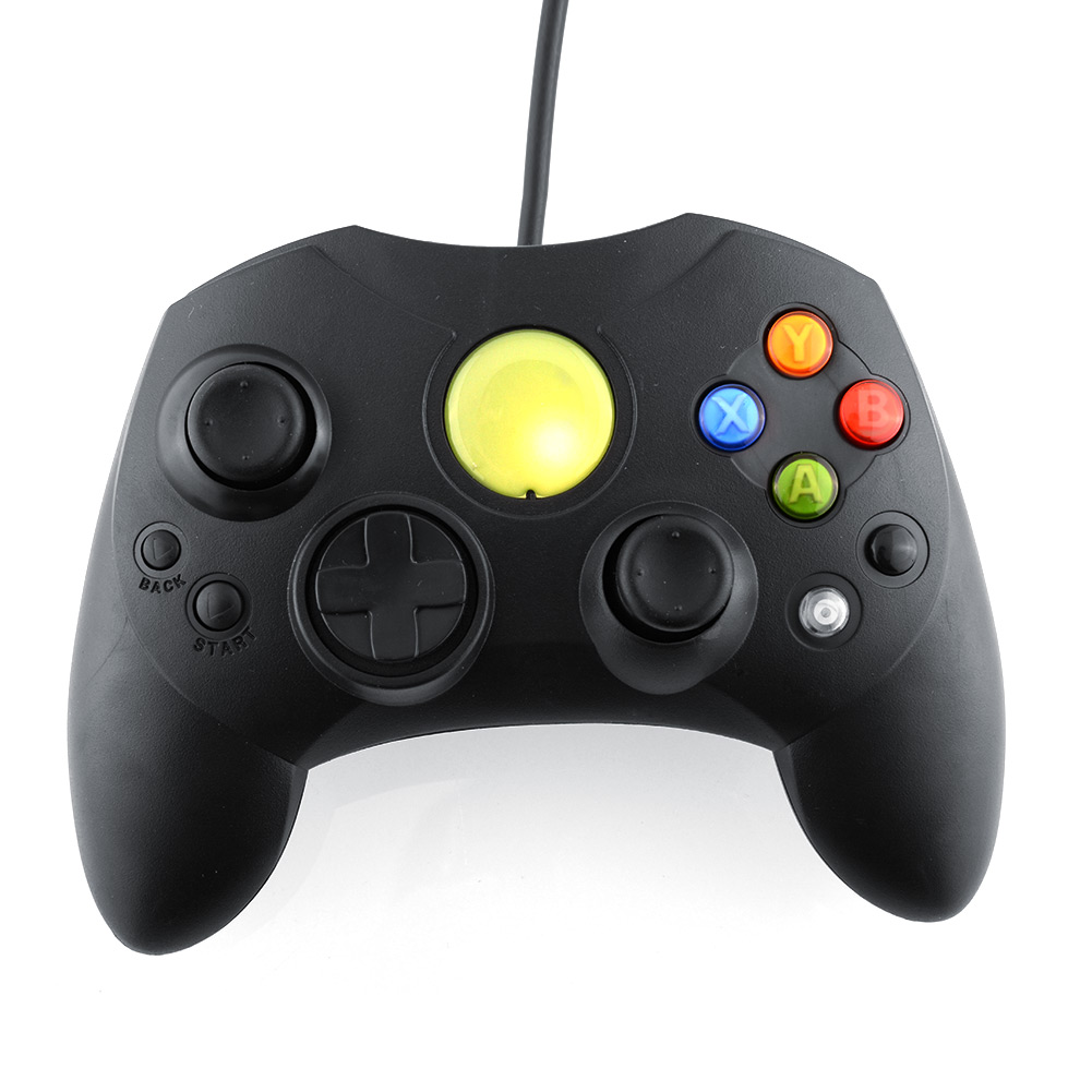 image for Black Wired Controller GamePad Joypad Joystick S TYPE For Microsoft Fo