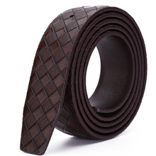 Fashion Men Strap Belt Without Buckle Men's Belts Luxury Designed For Pin Buckle Ceinture Homme Waistband Luxury