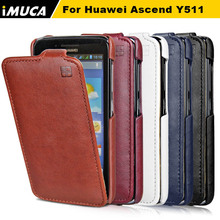 huawei y511 Case 100% original brand PU Leather Vertical Flip Cover for Huawei Ascend Y511 Mobile Phone Accessories