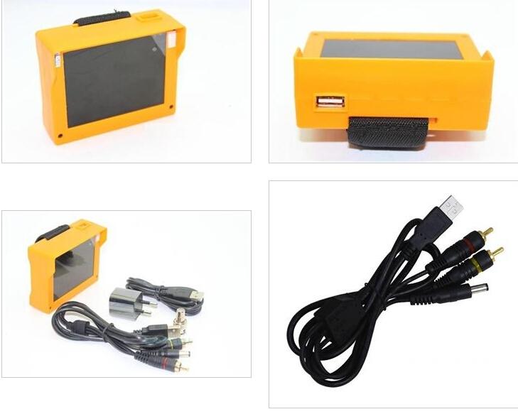 "2pcs/LOT Big sale 3.5"" LCD Monitor CCTV Security Camera Video Test Tester New Portable Wristband CCTV Free Shipping(China (Mainland))"