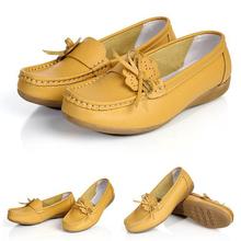 2015 women flats women genuine leather shoes flat moccasins woman casual shoes 885