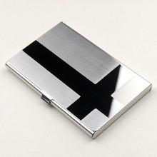 Stainless Steel Silver Aluminium Business ID Credit Card Case Puscard Free Shipping L09407(China (Mainland))