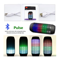 LED Bluetooth Speaker Glow Pulse Lighting Mini Portable Wireless Bluetooth 3D Bass With logo Speakers Boombox