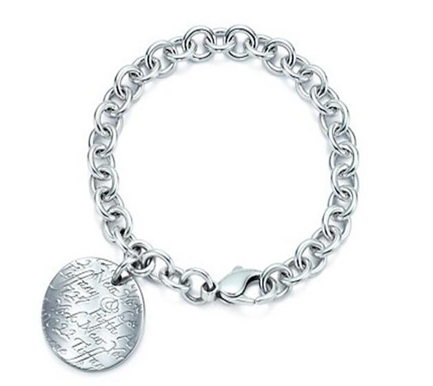 Wholesale Brand Men Bracelets Jewelry High Quality 925 Sterling Silver Cuff Bracelets Charm Bangles For Women