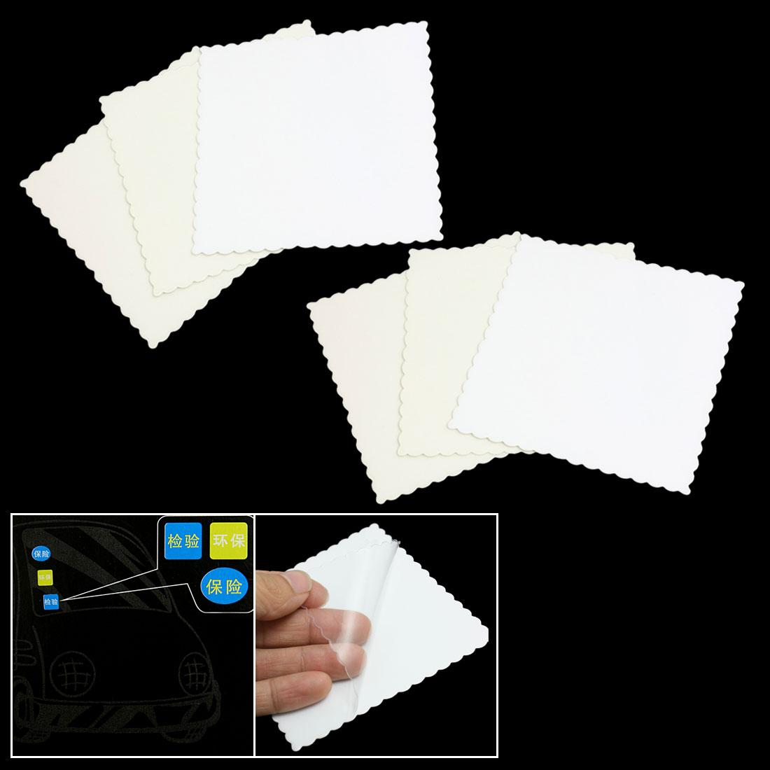 6 Pcs/lot Car Auto Window Signal Clear Cling Static Sticker Film(China (Mainland))