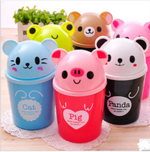 CQ Strange new creative gifts Home Furnishing Mini dustbin / animal / cartoon instoragebarrels desktop trash(China (Mainland))