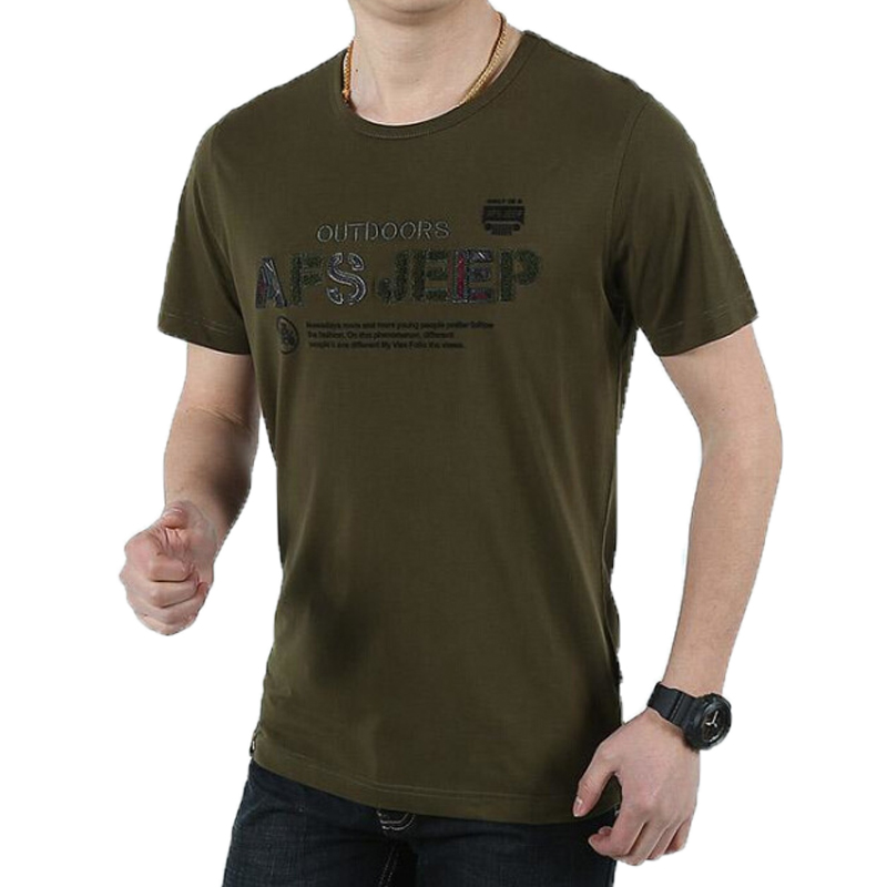 Free Shipping Afs Jeep Brand Short Sleeve T Shirts O Neck