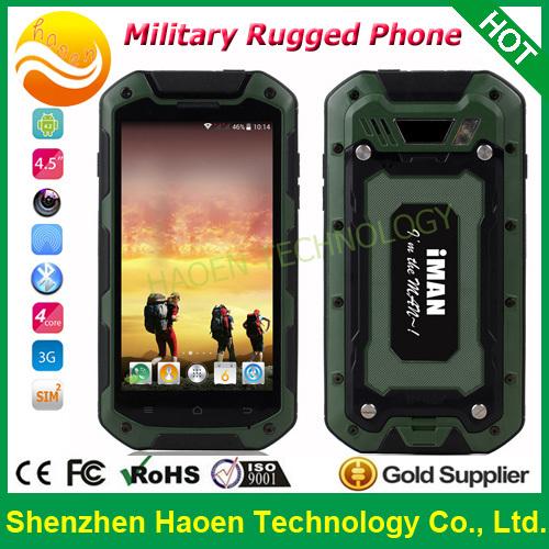 Original 4.5Inch QuadCore China Cheap Mobile Telephone IP67 Waterproof Dustproof Rugged Verizon Mobilephone 3G WCDMA GSM Celular(China (Mainland))