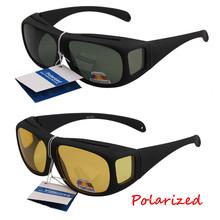 Unisex Over Glasses sunglasses polarized Large Will Fit Over Most Rx Glasses Sunglasses Matter Black Frame