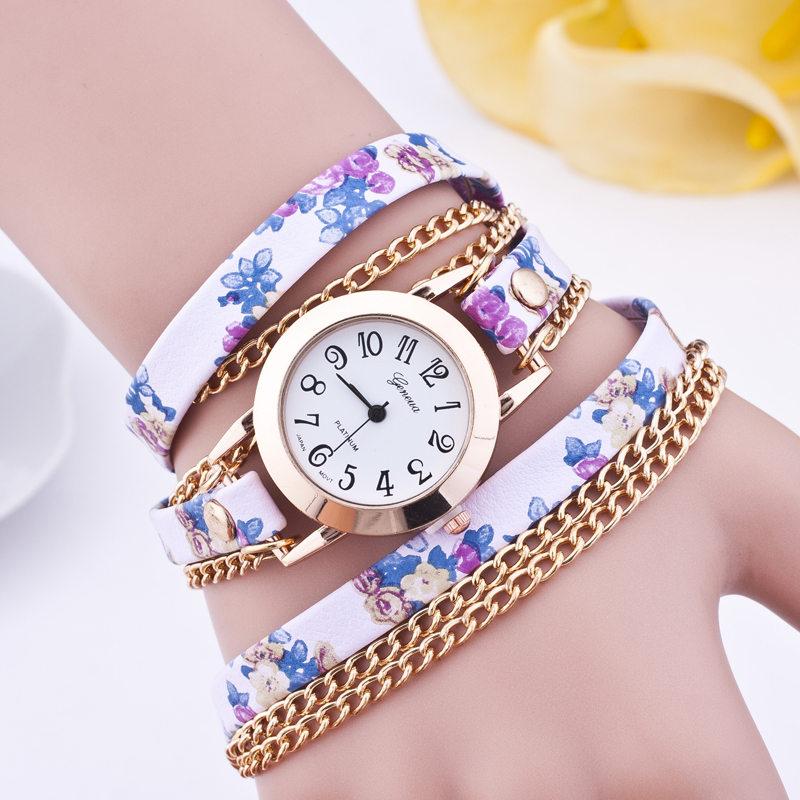 2015 New Fashion Hot Colorful Vintage Women Watches Weave Wrap Rivet Leather Bracelet Wristwatches Watch <br><br>Aliexpress