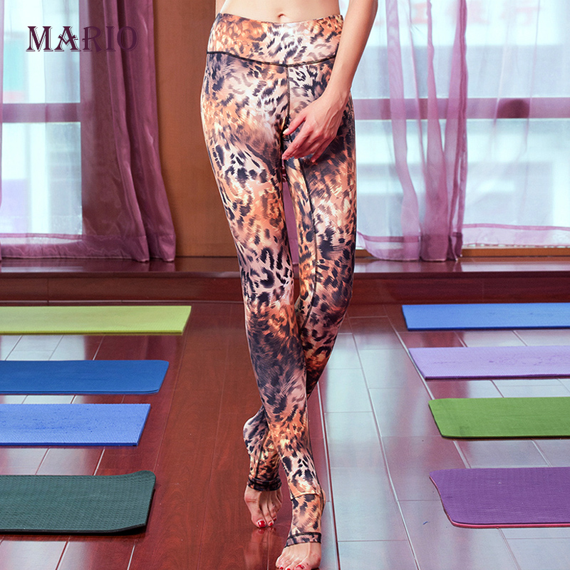 we only sell high quality Italian printing Women Leopard Sports Clothes Slim Pants Leggings Fitness Running step foot trousers(China (Mainland))