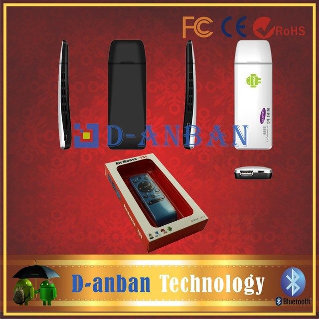 New Arrival !! E888 RK3188 Quad Core Android TV Stick Smart Android TV BOX Dongle 2GB RAM 8GB ROM and T31 fly air mouse