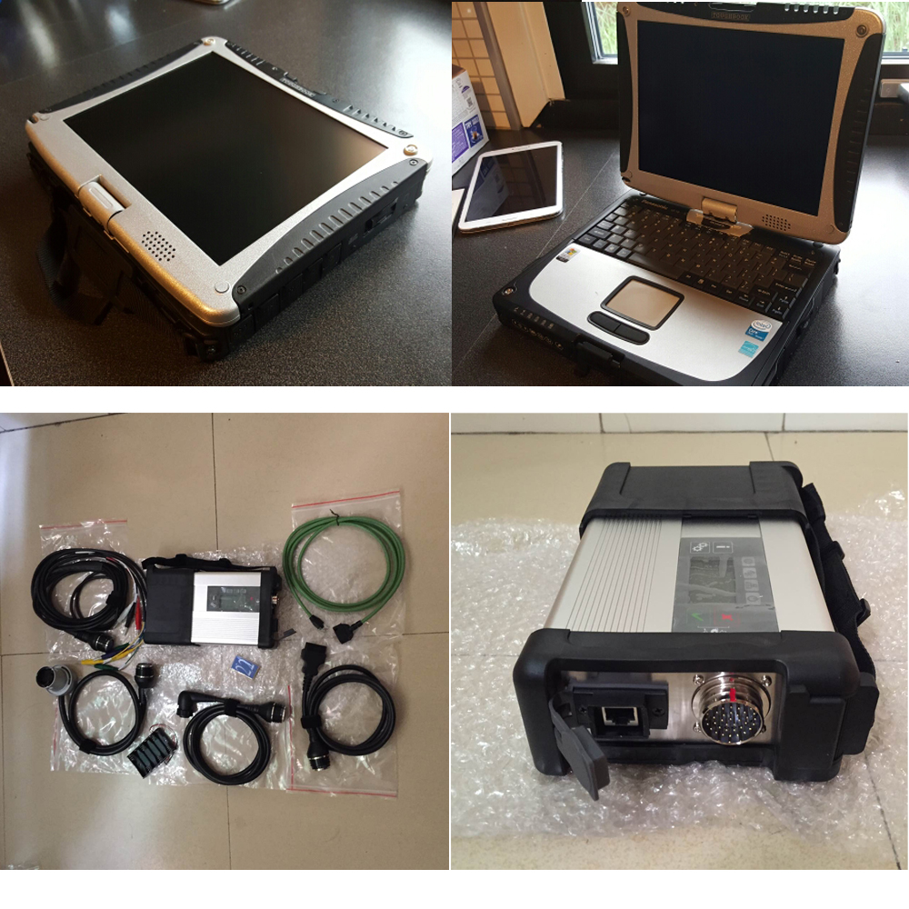 2016 super mb star c5 with ssd newest software with laptop cf19 touch screen ready to use 12v 24v Auto diagnosis tool dhl free(China (Mainland))