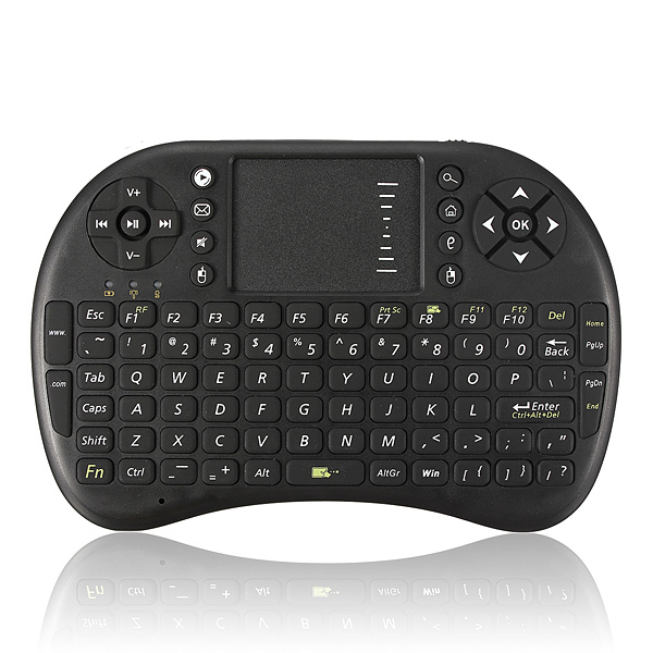 i8 2.4G Mini Wireless Keyboard Mouse with Touchpad Air Mouse for PC Android TV HTPC(China (Mainland))
