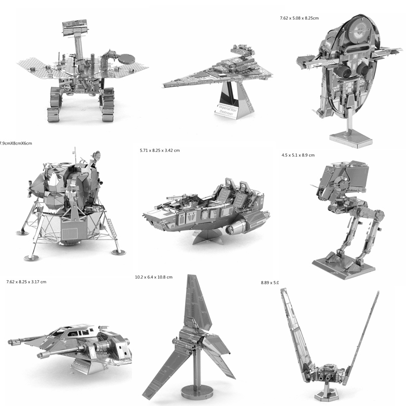 3d Metal Model Diy Fighter Star War Scale Buliding Model For Adult Jigsaw Puzzle For Children Toys Metallic Nano 3D Puzzles(China (Mainland))