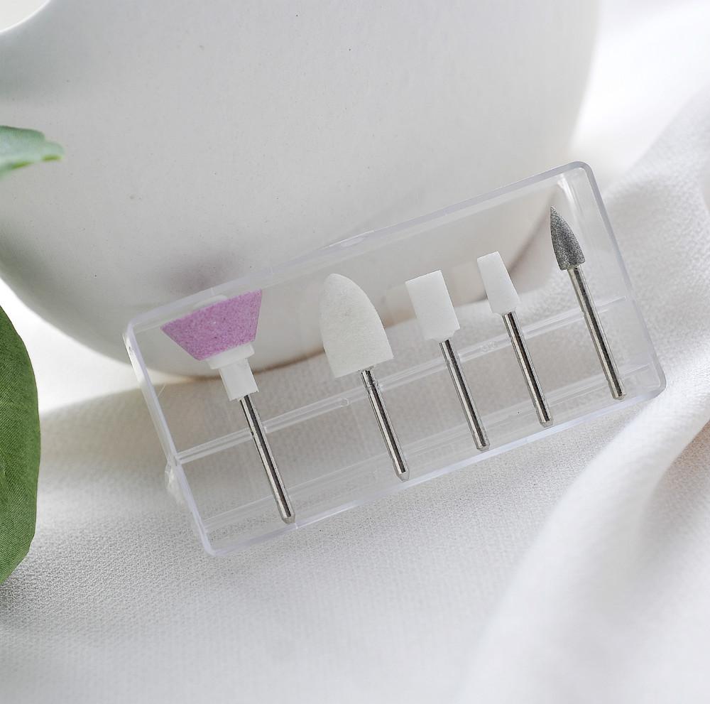 Free Shipping (5pcs/set) 5sets Hot diamond Grinding Head Tool Nail Drill Bit for Nail Art Polish Machine nail styling tools(China (Mainland))