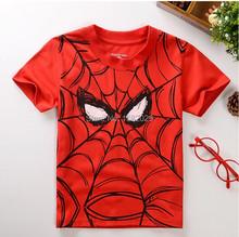 New 2017 children t shirts,Spider-man Print Kids Baby Boy Tops Short Sleeve T-Shirt Summer Tee free shipping(China (Mainland))