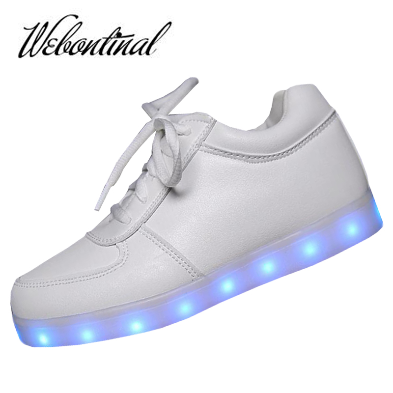 2016 High Quality PU Shoes Led Schoenen Man Light Up Chaussures For Men Casual Shoes Women Luminous Adults Homme Femme Lumineuse(China (Mainland))