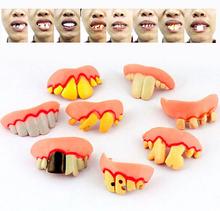 Fake Teeth Goofy Rotten Teeth Decayed Tooth Prank Denture Set April Fool's Day Practical Jokes Toy(China (Mainland))