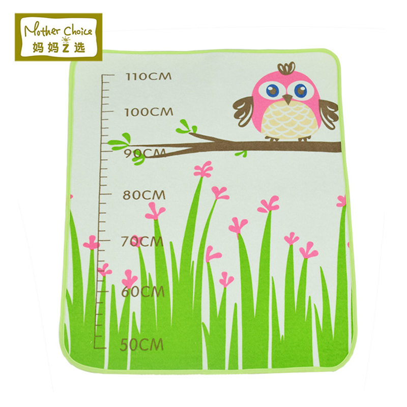 Owl&Height Charts Pattern Baby Changing Pad/ Newborn Infant Waterproof &Breathable Compact Diaper Changing Mat/Size:70X50cm(China (Mainland))