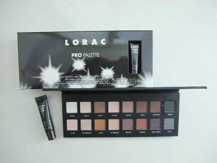 New Lorac Pro Eyeshadow Palette Makeup Set 16 Color Eye Shadow with Brush Free Shipping(China (Mainland))