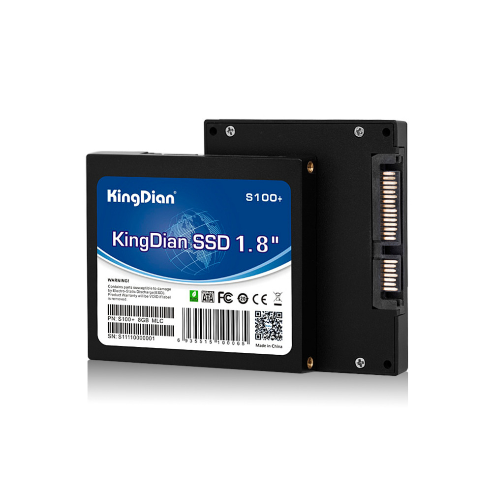 KingDian SSD 8GB Internal Solid State Hard Drive Disk SATA SATAII 1.8'' for thin client,ATM,POS machine(China (Mainland))