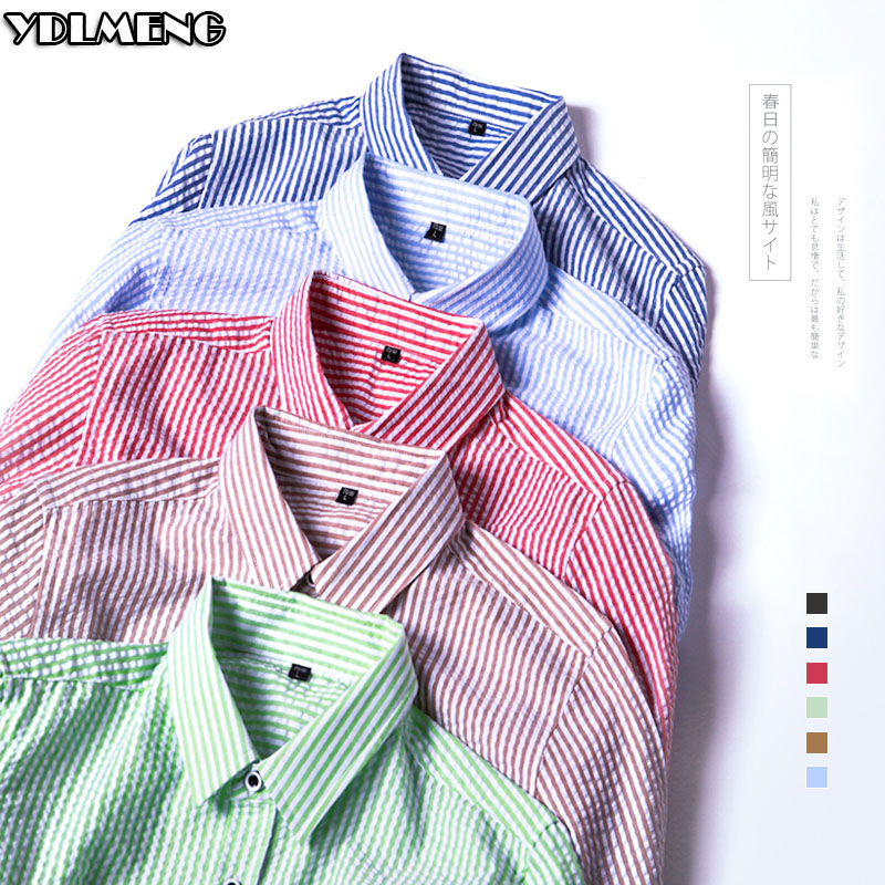 england shirts hombre mens long sleeve small striped camisa casual button breasted thin light hot sale hawaii trip date work(China (Mainland))