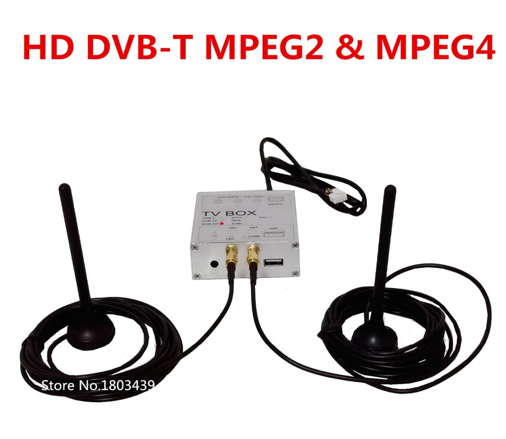 Car DVD Player Radio Stereo GPS Navigation Digital TV Receiver Box HD DVB-T With Both MPEG4&MPEG2 Signal+ Dual Antenna(China (Mainland))