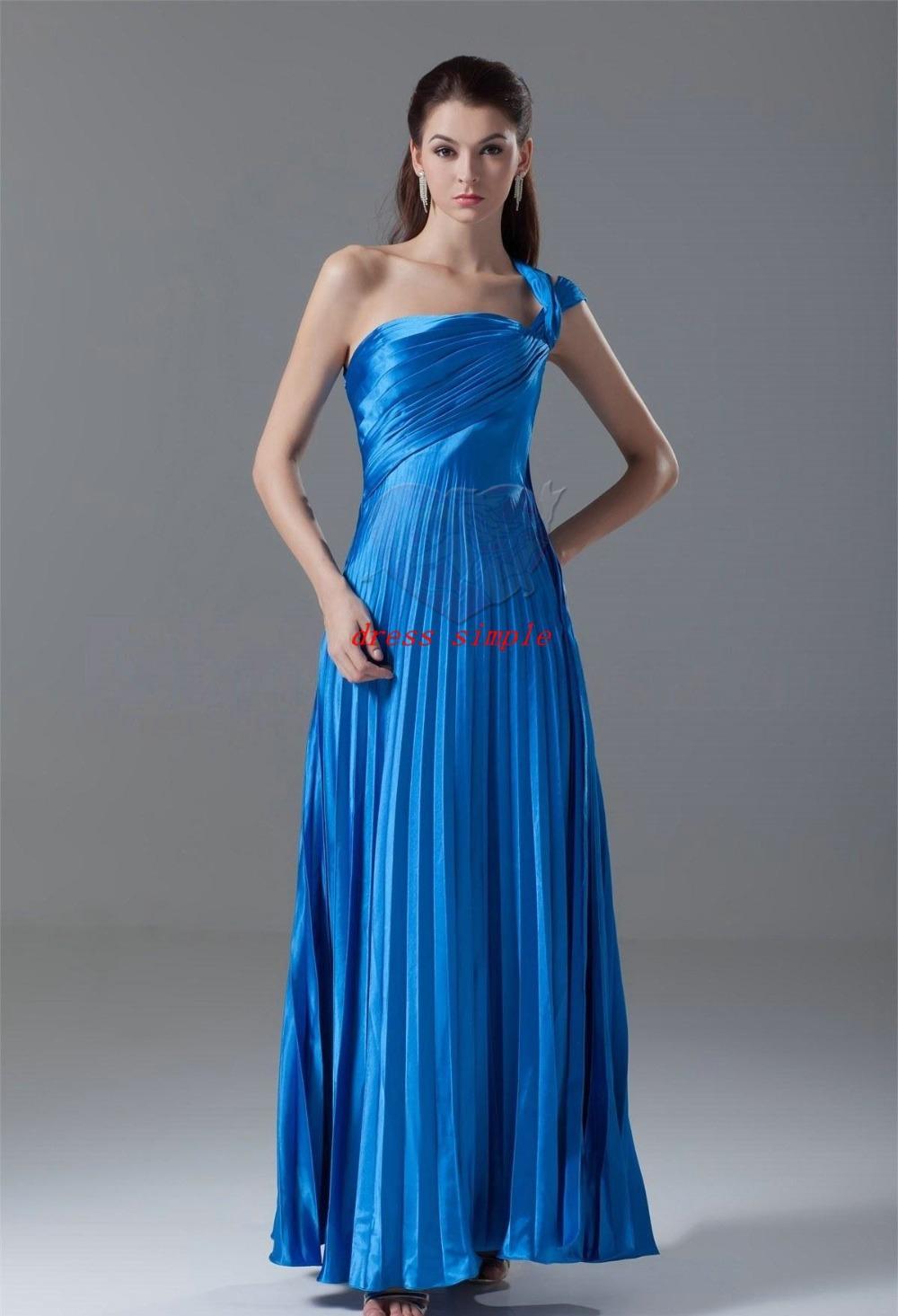 Satin empire plus size maternity a line long one shoulder for Plus size one shoulder wedding dress