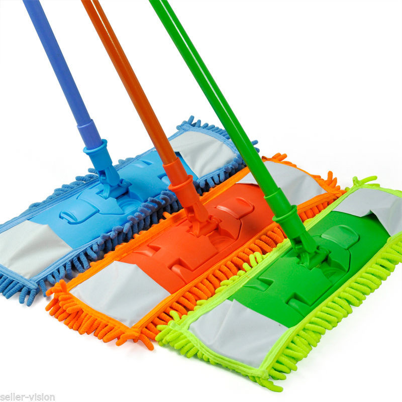 Colorful 360 Degree Rotatable Floor Mops Cleaner Handheld Sweeper Broom Extendable Microfibre Sweeper Home Cleaning Tool(China (Mainland))