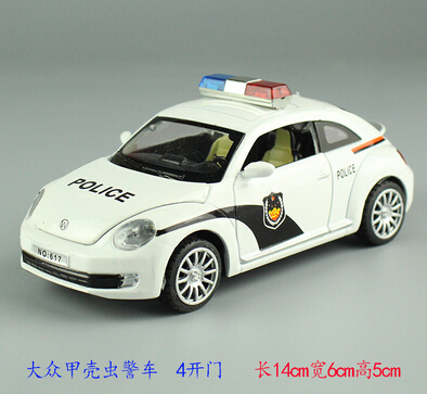 2015 Acousto-optic Beatles Police Car Automobiles Brinquedos Car Styling Kids Toys For Children'S Toys Model Car Miniatures(China (Mainland))