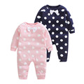 Baby Autumn Clothes Bow Jumpsuits Romper Newborn Cotton Long Sleeve Romper Baby Girls Boys Polka Dot