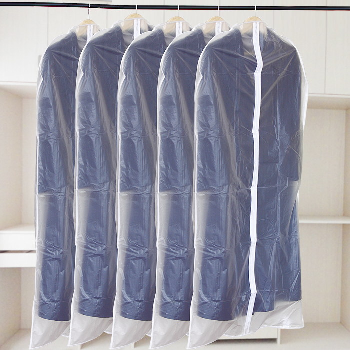 Visual transparent clothing and dust cover overcoat suit dust cover thickening water wash vacuum clothes storage bags(China (Mainland))