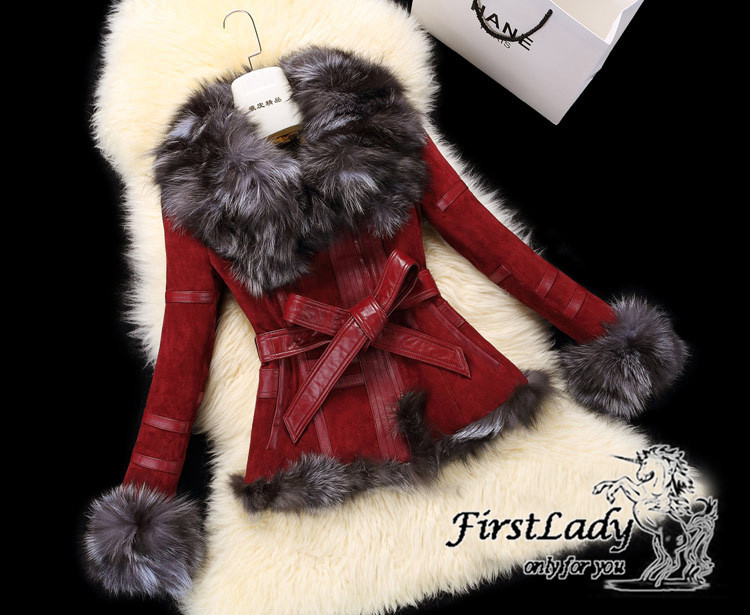 Real fox collars real leather jacket 22