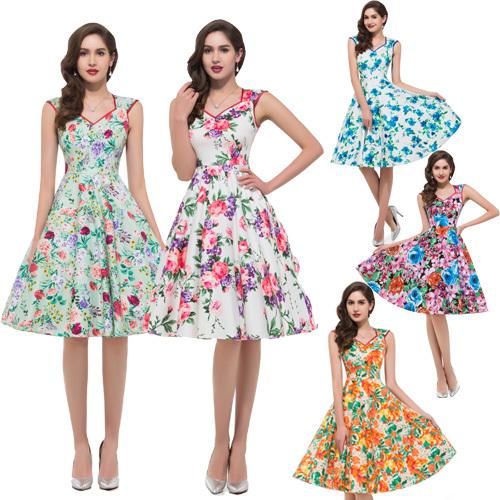 где купить Женское платье Grace Karin 50/70/2015 vestidos Vintage Dress по лучшей цене