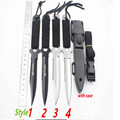 SHNAPIGN Knife Haller Leggings Paratroopers Steel Diving Straight knife Outdoor Survival Camping Tactical Knife with case
