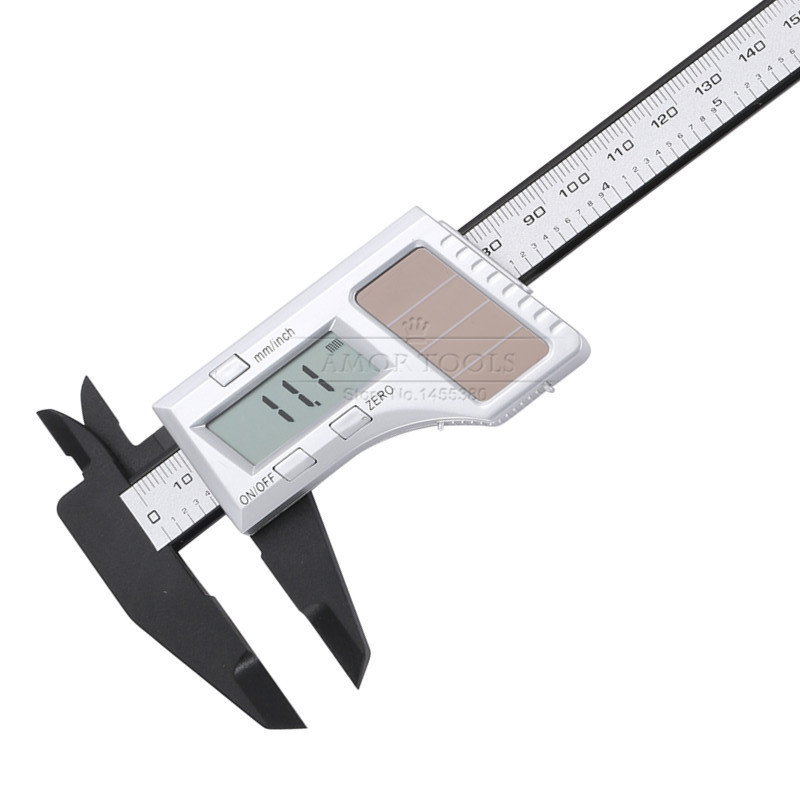 Digital Solar Caliper 0-150mm Inch/mm Electronic Plastic Vernier Calipers Battery Dual Power Micrometer(China (Mainland))