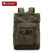 Men Casual Fashion Canvas Bags Mens Softback Computer Laptop Bag Soft Handle Travel Backpack Promotion Mochilas