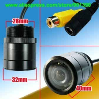 9 LED IR Night Vision Color Car RearView Camera wide viewing angle free shipping