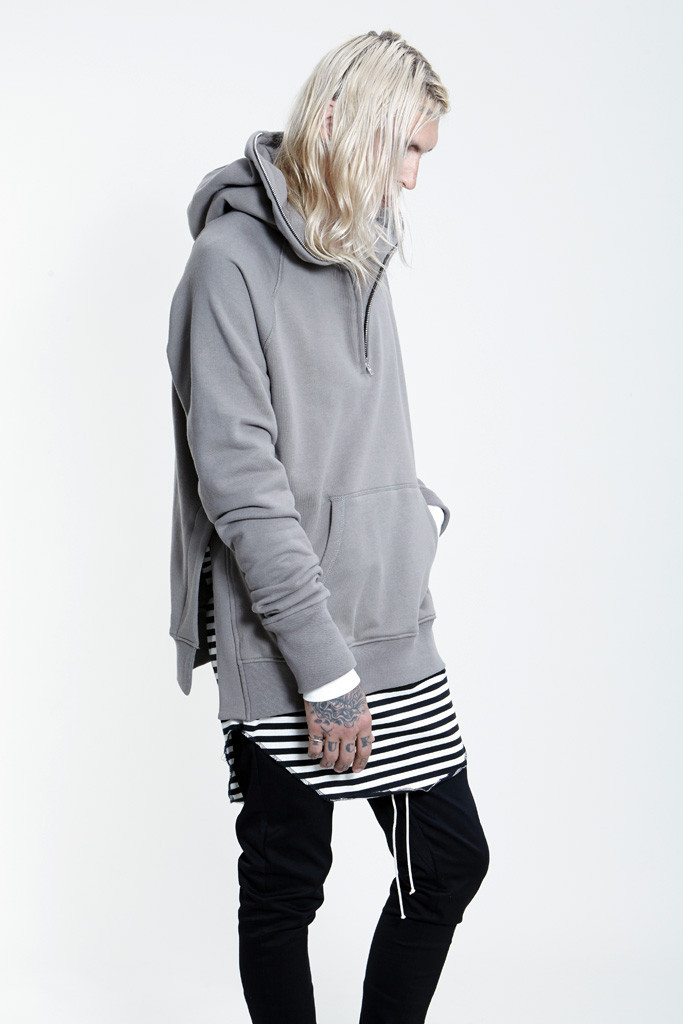 hiphop mens top kpop clothes kanye west black/grey M-2XL side open oversized hood hoodie mens jackets and coats fear of godОдежда и ак�е��уары<br><br><br>Aliexpress