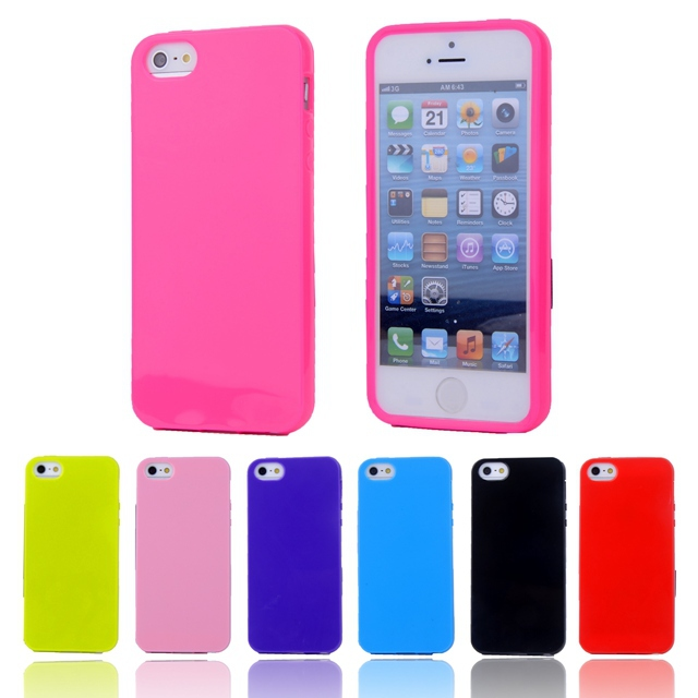 For iphone4S Fashion Candy Colors Jelly Soft TPU Silicone Shockproof Case for Apple iphone 4 4S Cell Phone Protective Cover Bags(China (Mainland))