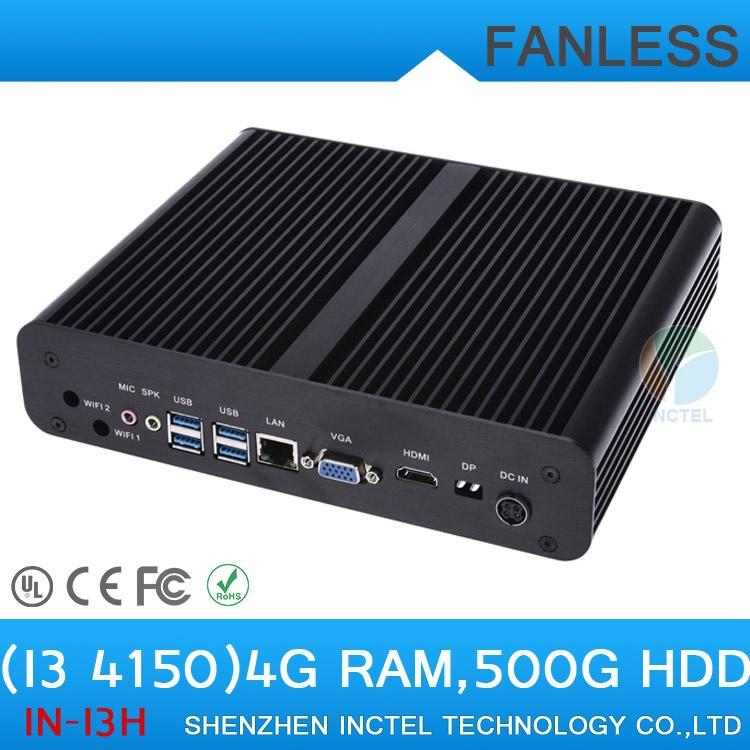 Mini ITX PC Cloud Terminal HTPC i3 4150 with Intel Core i3 4150 3.5Ghz Three display 4G RAM 500G HDD(China (Mainland))