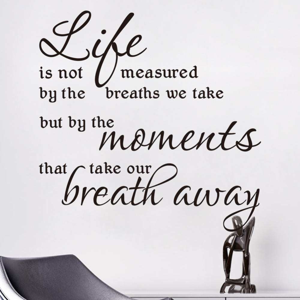 what is life measured wall decals quotes inspirational