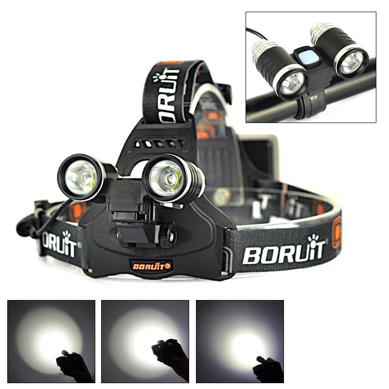 Bicycle Light 2L2 Linternas 4000 Lumens Headlamp 2x XML L2 LED Headlight Mountain Bike Head Lamp 4 Mode For Cycling Sports(China (Mainland))