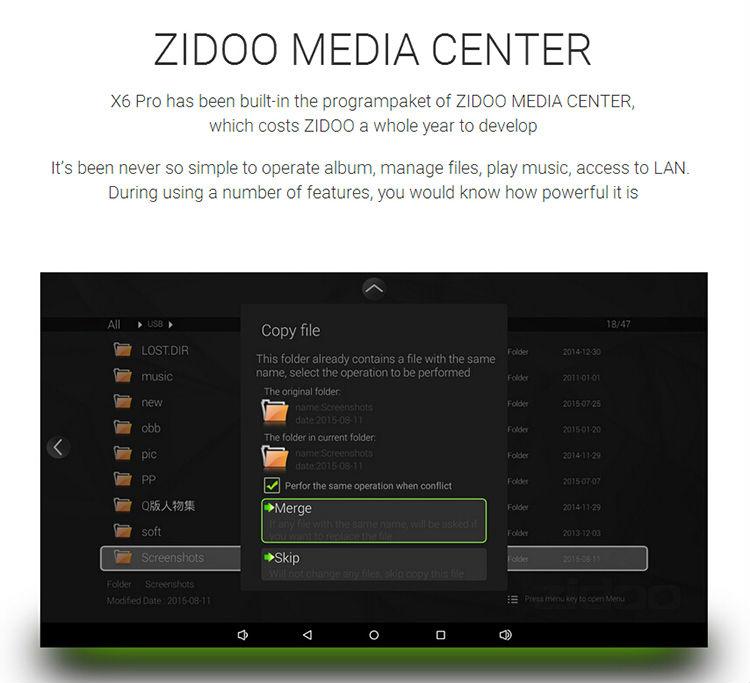 Zidoo X6 Octa Core 64 bit (2G+16G) (end 10/29/2016 10:15 AM)
