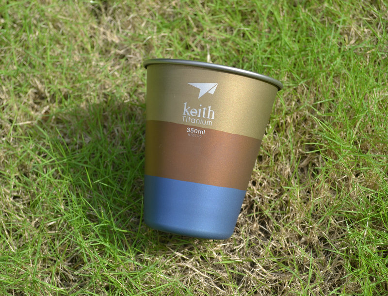 Keith Ti9016 Colorful Titanium Water Beer Cup Mug Picnic Cookware Accessory 35g 350ml(China (Mainland))