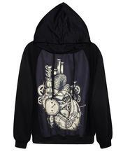 2015 new spring Anime Japan Sweatshirt Hoodie Cosplay Costume printing  Mechanical watch black   cotton  Hoody(China (Mainland))