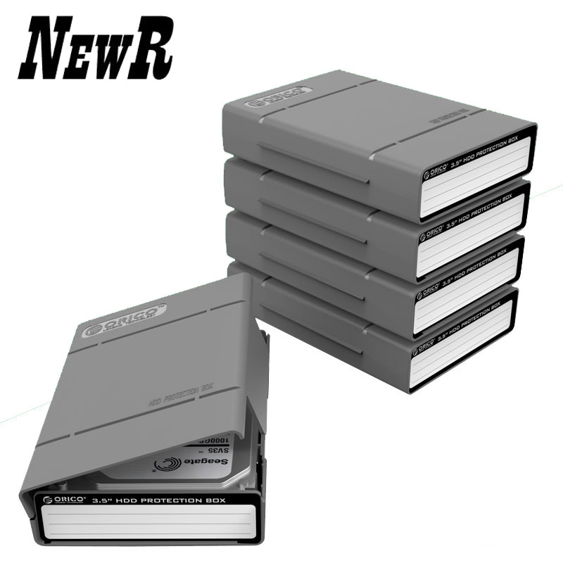 ORICO PHP-5S-GY Simple HDD Protector Box for 3.5 HDD Case with Waterproof Function- 5PCS/LOT-Gray<br><br>Aliexpress