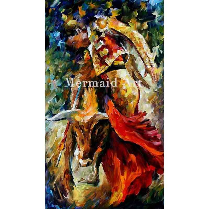 Buy Hand Painted Landscape High Quality Abstract Palette Knife White Angel Oil Painting Canvas Wall Decoration Living Room cheap